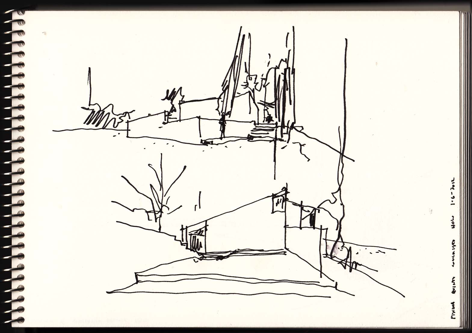 Siza vieira a fresh drawing everyday page 2 for Swimming pool sketch