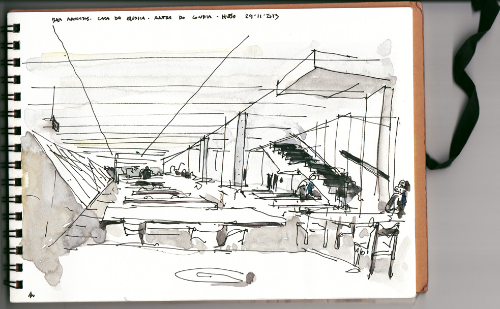 Koolhaas a fresh drawing everyday for Piscitelli casa de musica