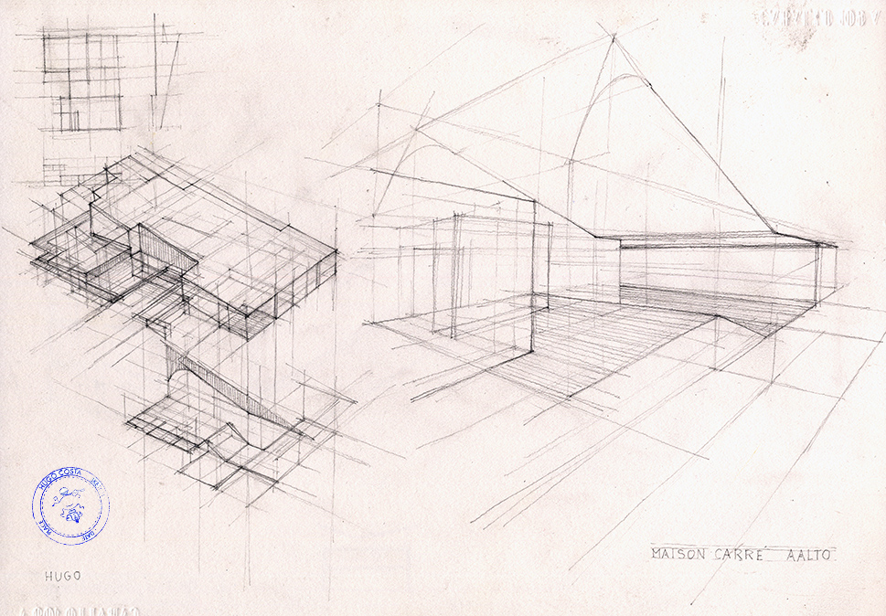1182 Maison Carre Alvar Aalto Geometry A Fresh Drawing Everyday