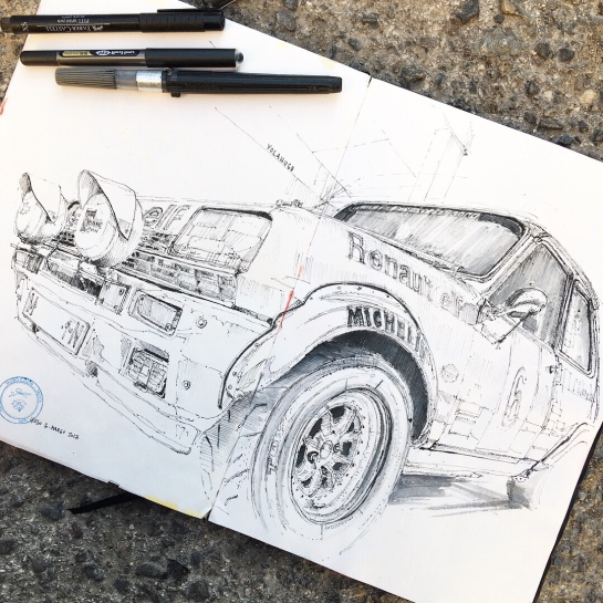 cars and motorbikes | a fresh drawing everyday